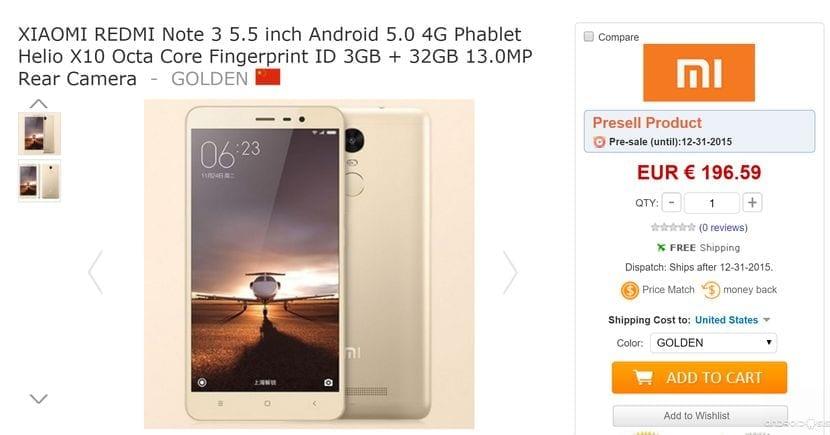 Reserva ya tu Xiaomi Redmi Note 3 al mejor precio