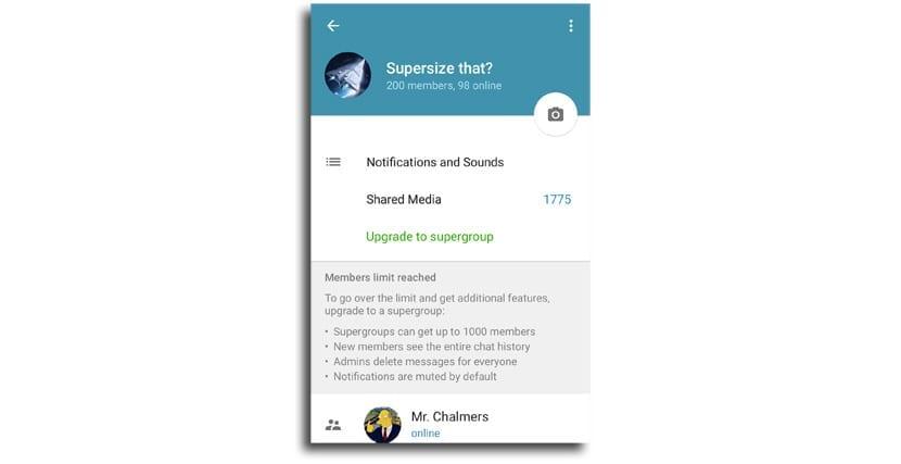 Telegram Supergrupos