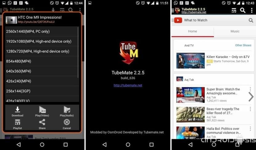 [APK] TubeMate para descargar gratis vídeos de You Tube