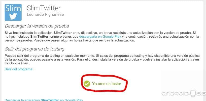 Slim Twitter la aplicación más liviana para controlar tus cuentas de Twitter