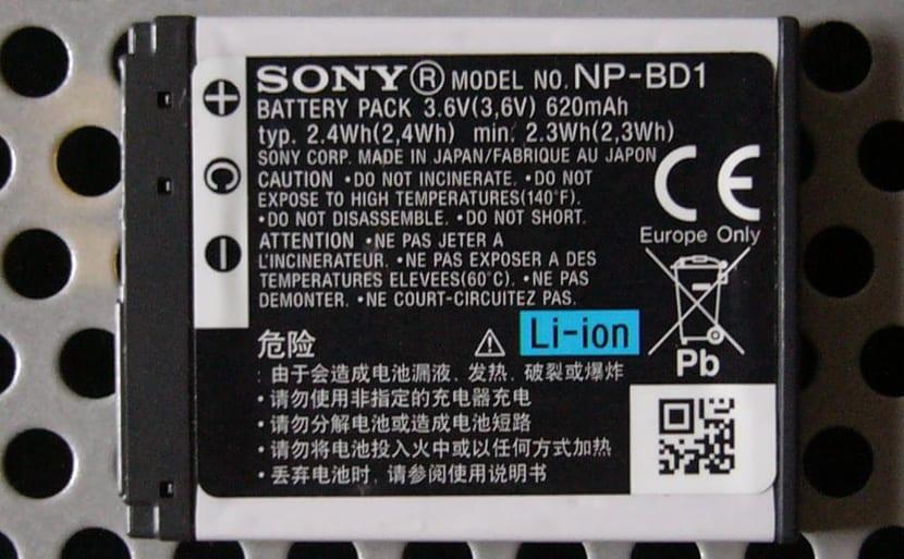 Sony batería