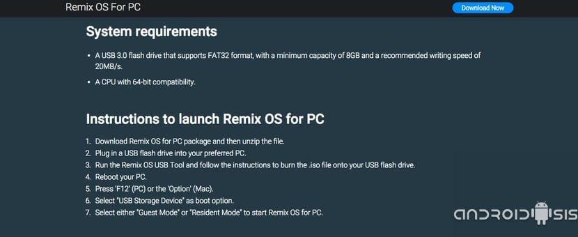 Cómo disfrutar de Android PC en un USB gracias a RemixOS 2.0