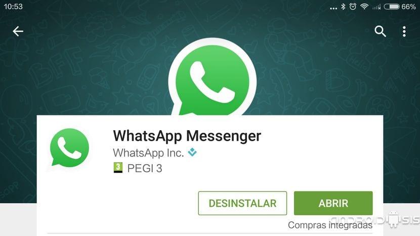 Desinstalar WhatsApp