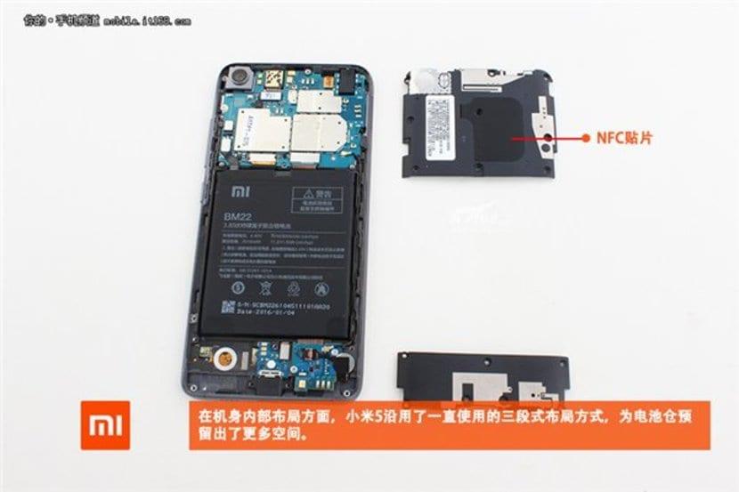 Xiaomi Mi 5 desmontado 2.redimensionada