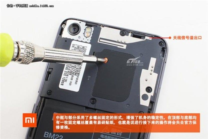 Xiaomi Mi 5 desmontado.redimensionada