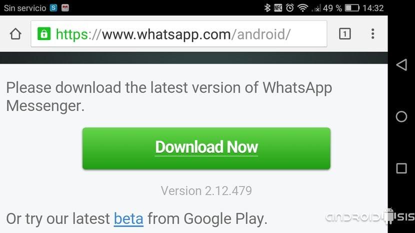 Descargar última versión de WhatsApp