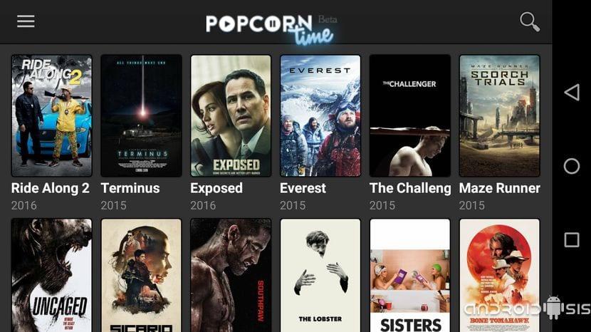 Pelis Gratis en Popcorn Time