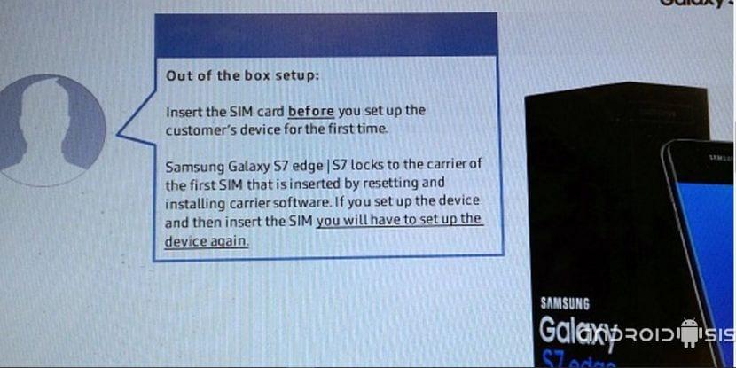 Bloqueo de red para el Samsung Galaxy S7