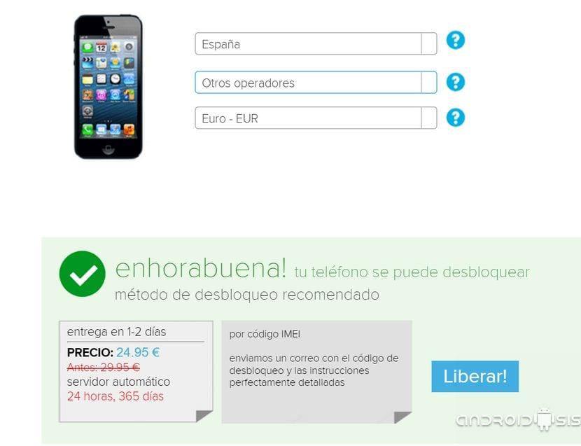 7f34cd0fa12 Aún así, ahora después de haber pasado el tiempo, para conseguir liberar un  iPhone 4s de Orange o Movistar tenemos que desembolsar 9,95 Euros, 12,,95  Euros ...