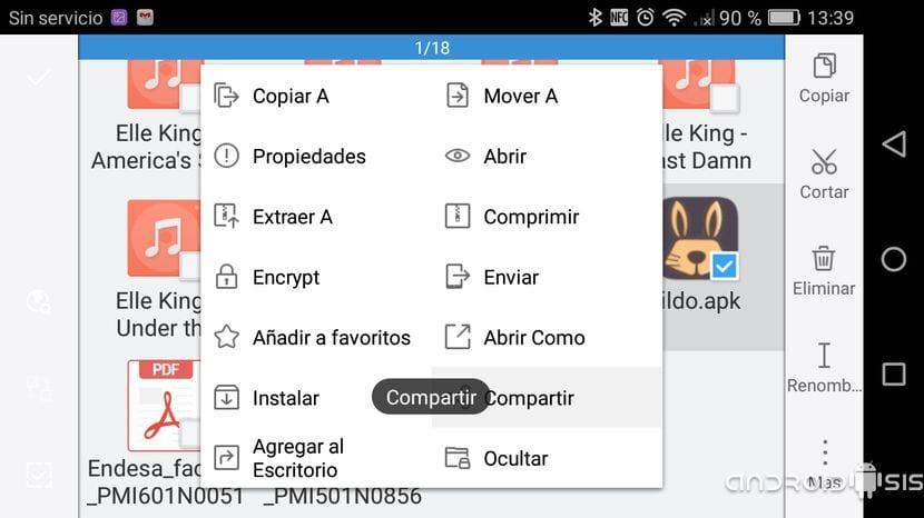 La manera más rápida de compartir archivos entre dispositivos Android