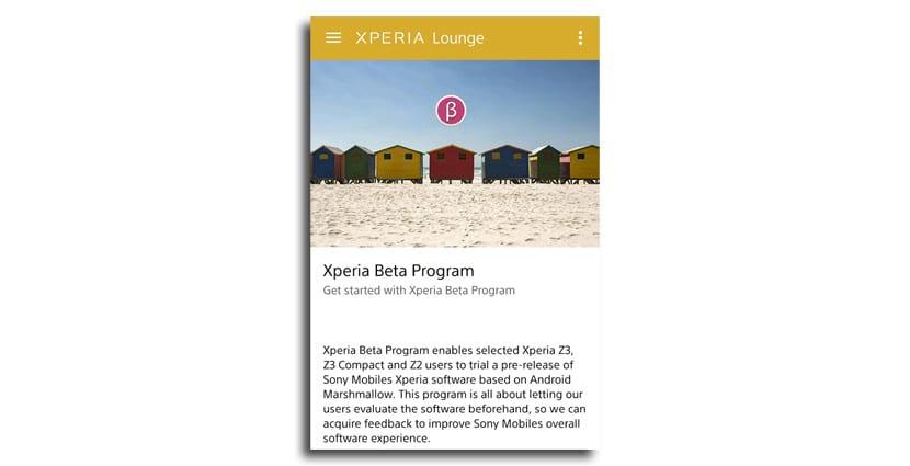 Xperia beta program