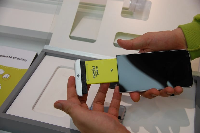 Cómo se cambian los módulos en el LG G5