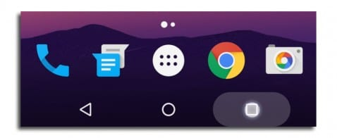 Android N apps recientes
