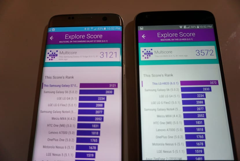 Benchmarks S7 G5