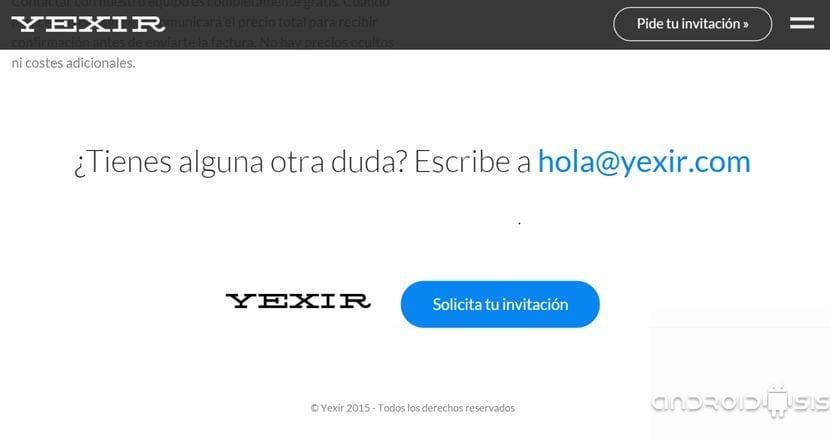 invitación a Yexir