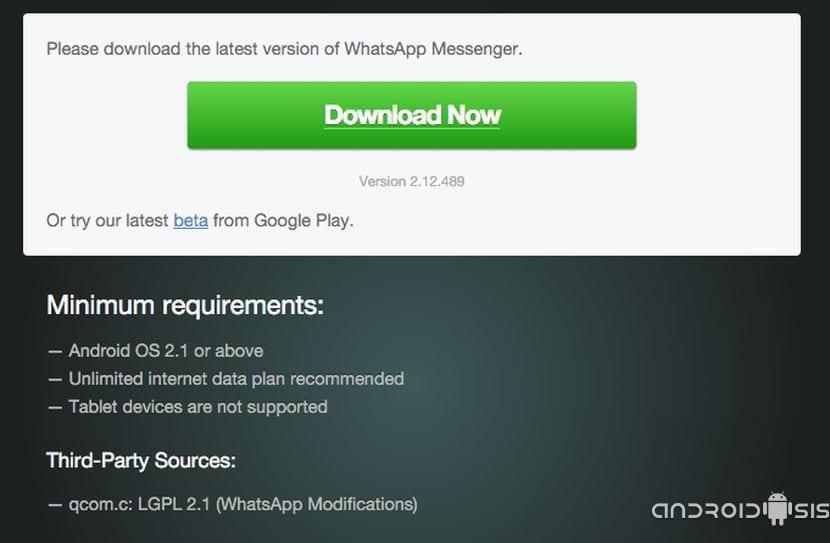 Descargar WhatsApp última versión
