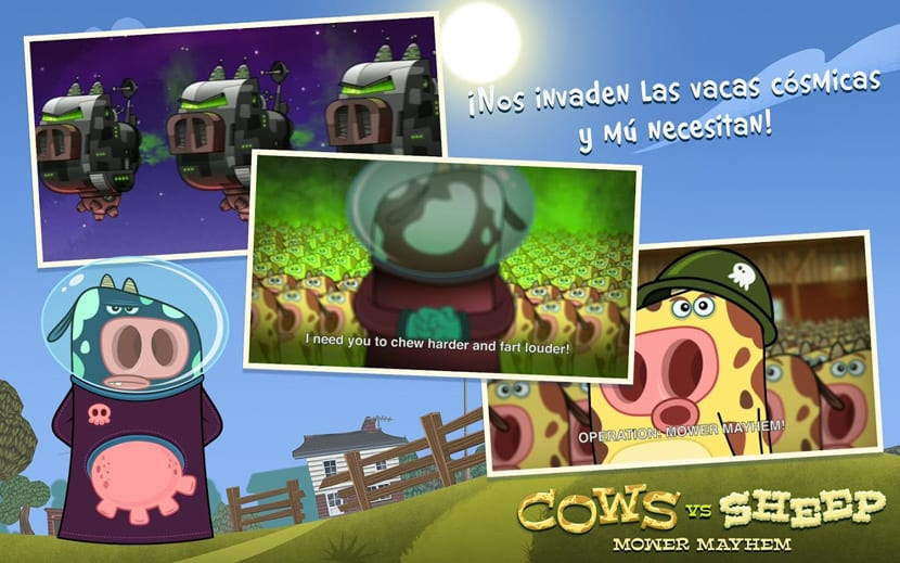 Cows vs Sheep Mower Mayhem