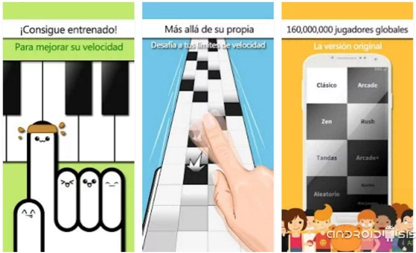 """El juego del piano del iPad para Android se llama: """"no pulses la tecla blanca"""""""