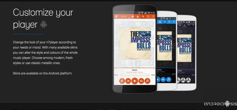 n7Player, un sensacional reproductor de música gratuito incluso con soporte para streaming a través de Chromecast