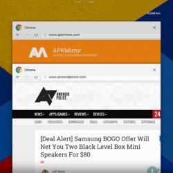 Android N Multiventana Chrome 3