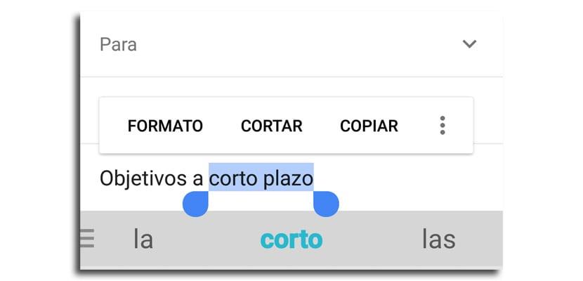 Aplicar itálica en Gmail