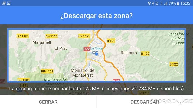 Truco Android: Hoy como descargar cualquier mapa de Google Maps