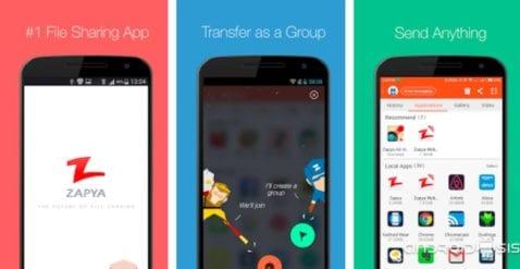 Zapya, otra forma diferente de compartir archivos entre dispositivos Android
