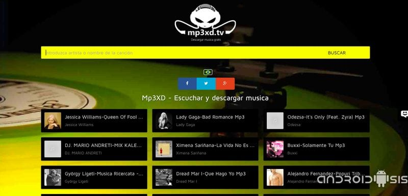aplicaciones para descargar musica mp3 android downloader