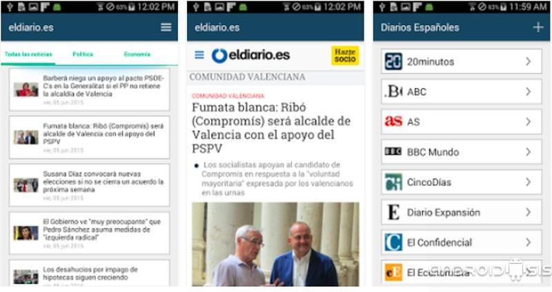 Aplicación para leer gratis los Periódicos Españoles