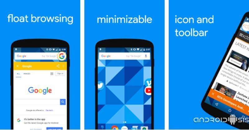 Flyperlink, un sensacional navegador Web con ventanas al estilo Chat Heads y carga en segundo plano