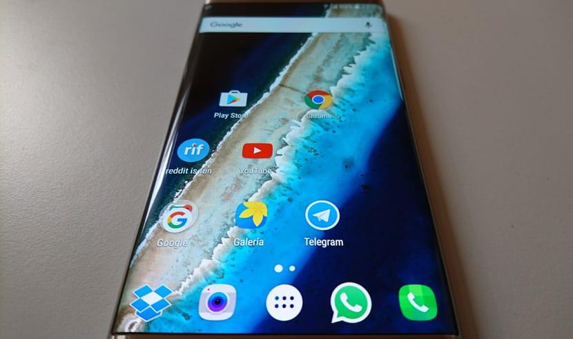 S7 edge pantalla