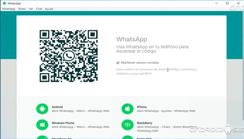 Aplicación oficial de WhatsApp para Windows