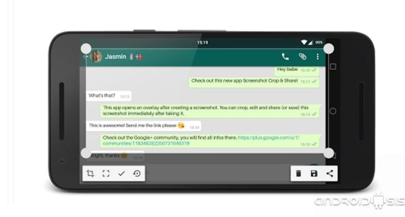 Screenshot Crop and Share, una aplicación similar a Quick Memo de LG válida para todos los Android