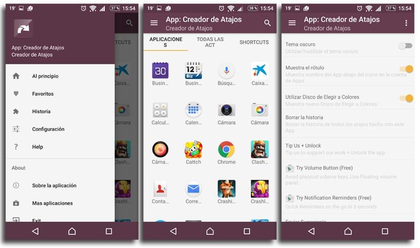 App: Creador de atajos