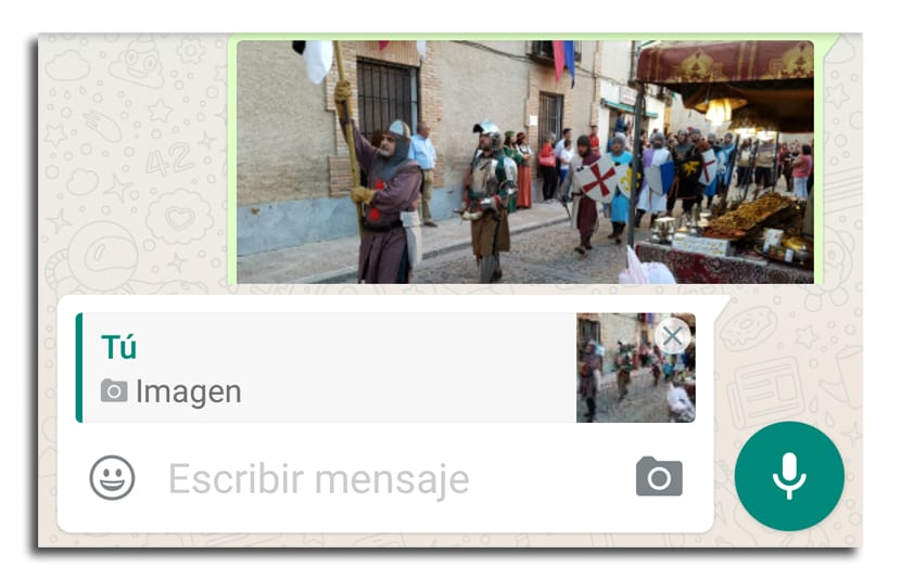WhatsApp citar mensajes