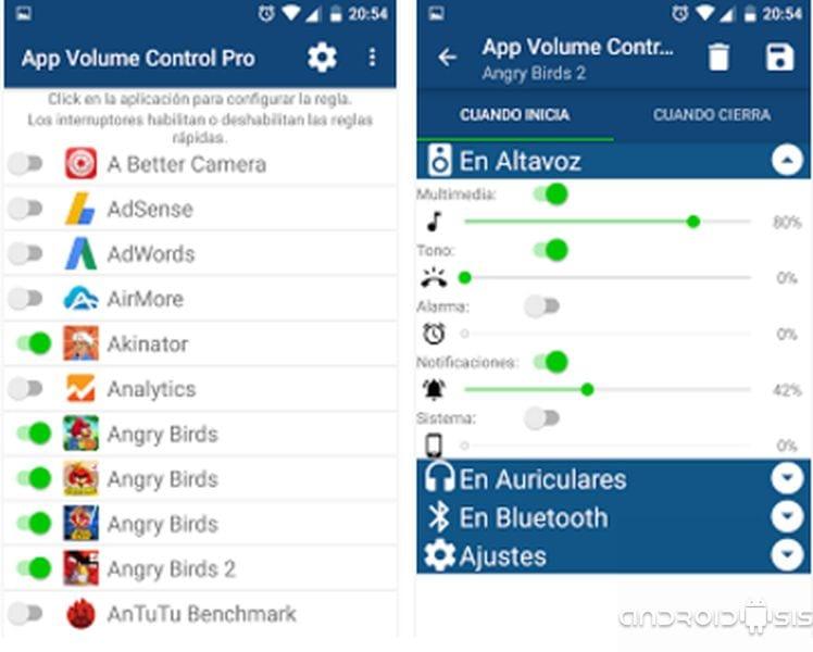 Cómo tener el control total del volumen en Android aplicación por aplicación