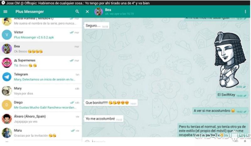 El mejor cliente de Telegram se llama Plus Messenger y es ¡¡GRATIS!!