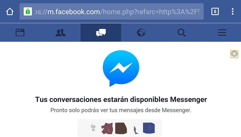 Facebook Messenger instalación forzada