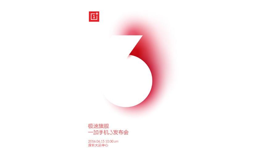 OnePlus 3 lanzamiento