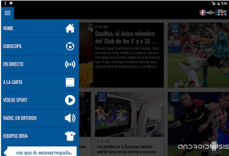 Cómo ver el partido de España en directo desde tu Android y toda la Euro 2016