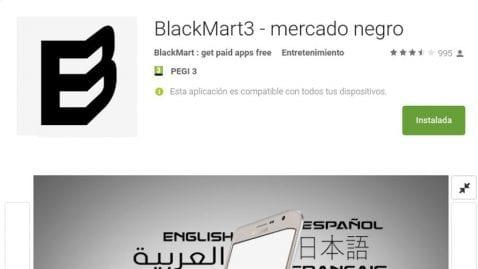 BlackMart se cuela en el Play Store bajo el nombre de BlackMart3 y ya lleva las 500.000 instalaciones