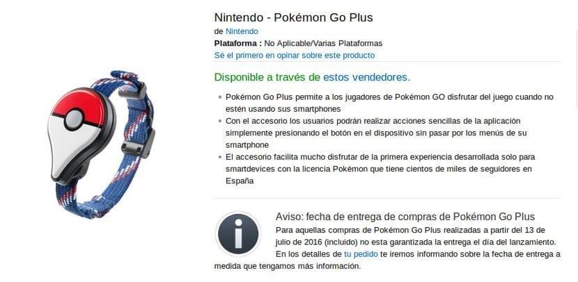 comprar la pulsera oficial Pokemon Go Plus de Nintendo