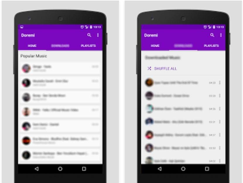Doremi 2, el reproductor de música para Android que descarga música gratis