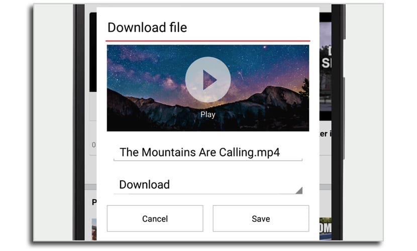 Descarga vídeos
