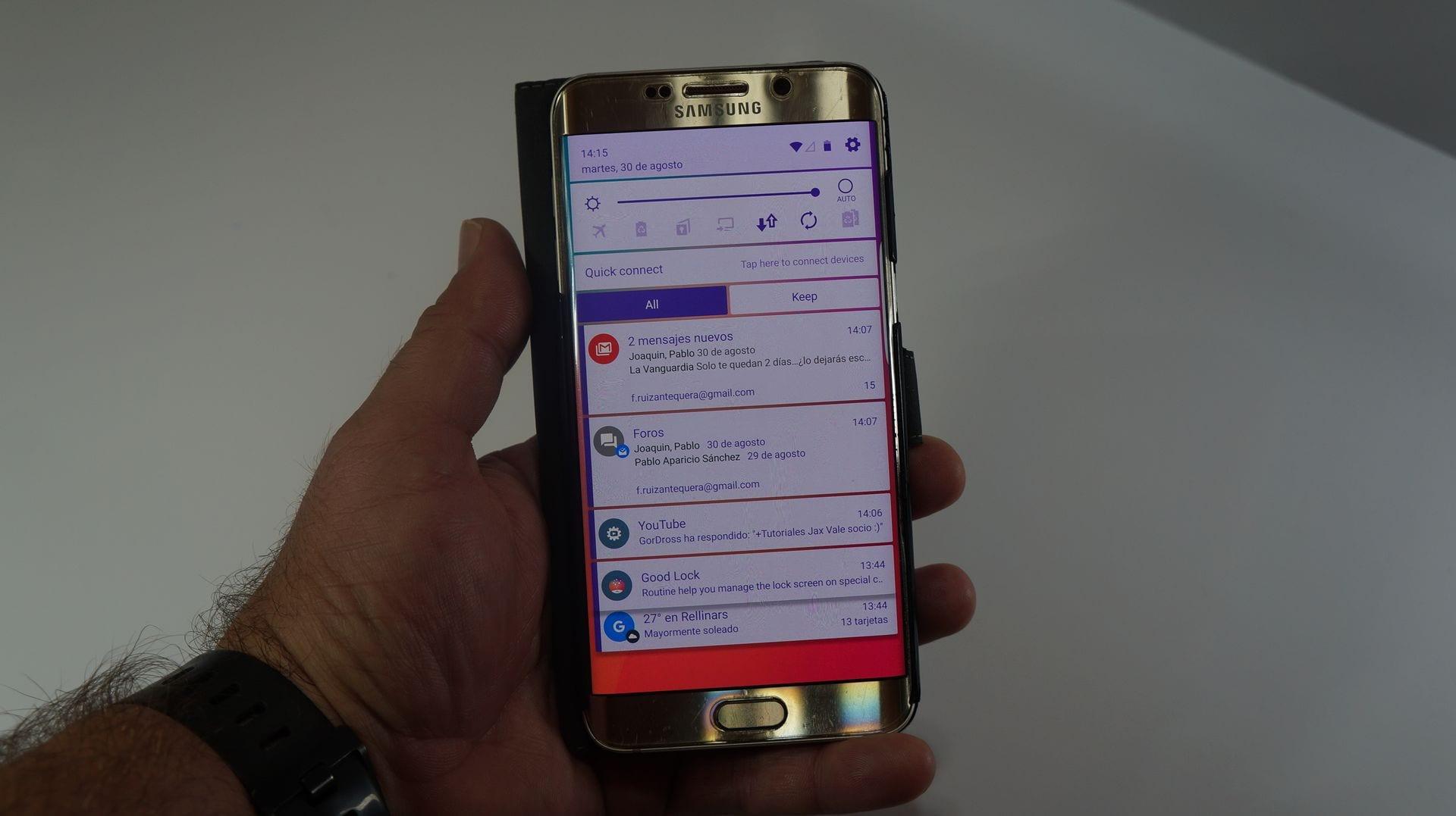 [APK]Cómo instalar la nueva interfaz de usuario del Samsung Galaxy Note 7 en tu Samsung. Telón de notificaciones, nueva pantalla de bloqueo y nueva interfaz para la multitarea Android