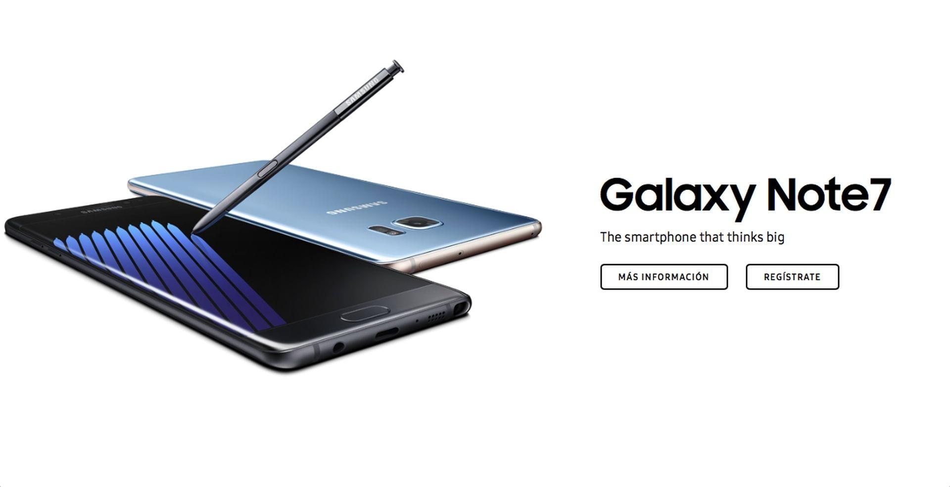 Toda la información acerca del nuevo Samsung Galaxy Note 7