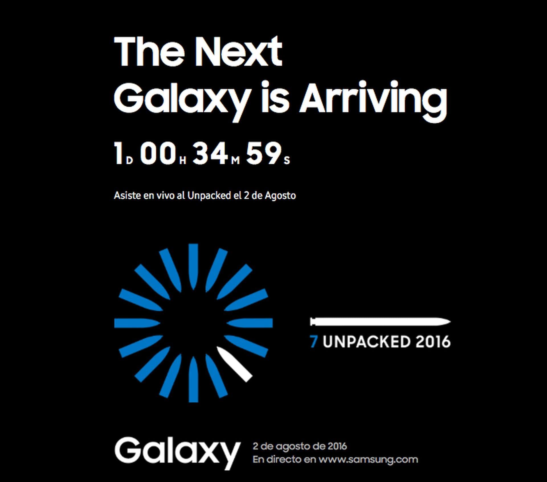 Samsung Galaxy Note 7 Unpacked 2016 en directo desde donde tu quieras