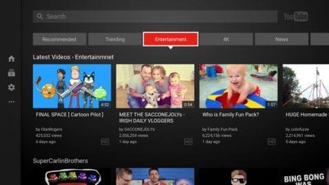 YouTube app smart