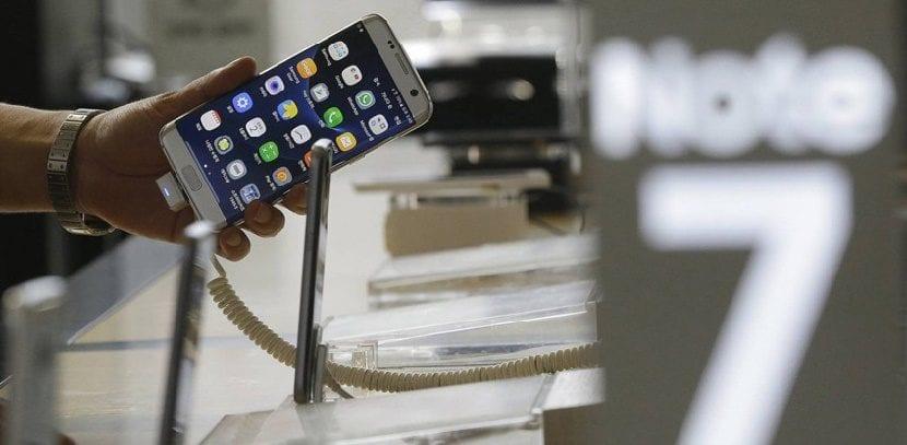 Galaxy Note 7 en tienda