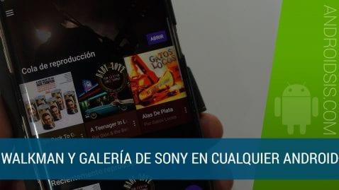 Walkman y galería de los euros Sony Xperia XZ